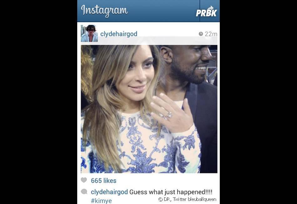 Kim Kardashian : une bague de fiançailles offerte par Kanye West à 8 millions de dollars