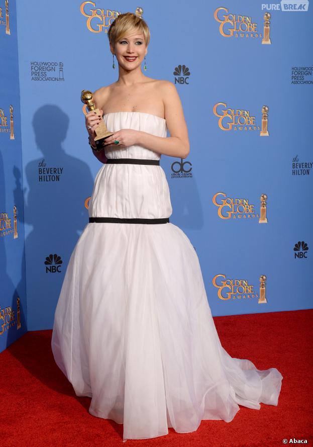 Golden Globes 2014 : Jennifer Lawrence gagnante du prix de meilleur second rôle féminin pour American Bluff