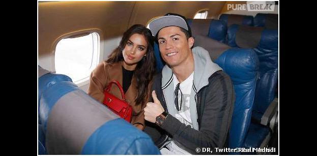Cristiano Ronaldo et Irina Shayk en route pour Zurich, le 13 janvier 2014