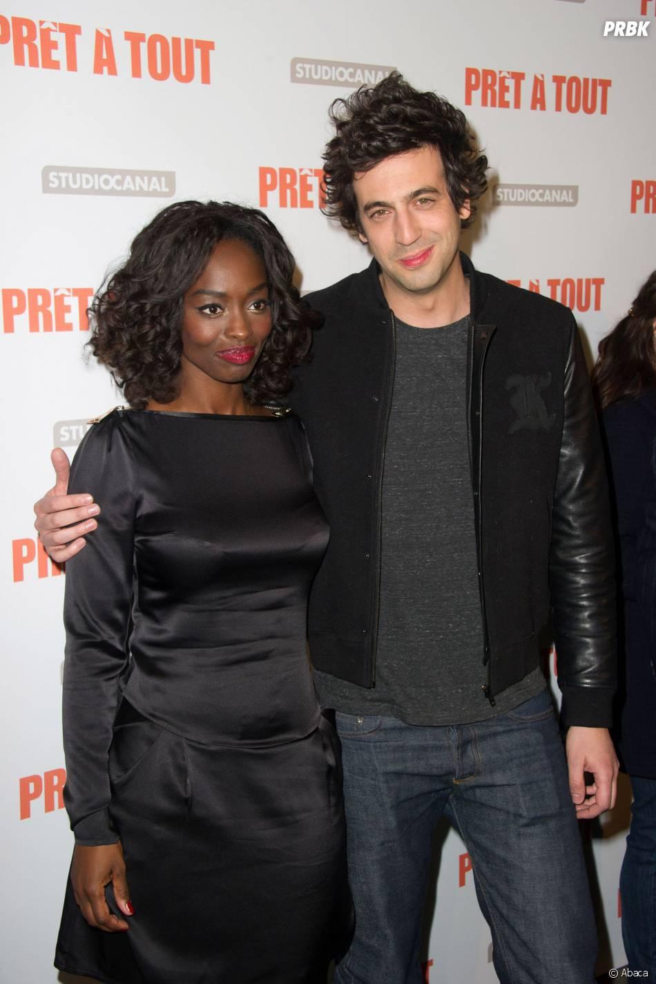 Max Boublil et Aïssa Maïga à l'avant-première de Prêt à tout, le 13 janvier 2014 à Paris
