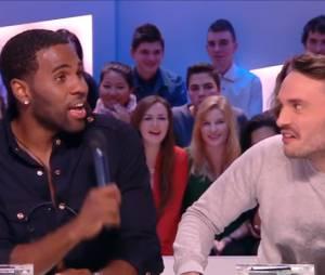 Jason Derulo : battle de danse avec La Ferme Jérôme dans le Grand Journal de Canal +, le 16 janvier 2014