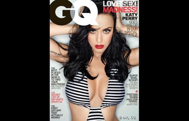 Katy Perry très décolletée en Une de GQ
