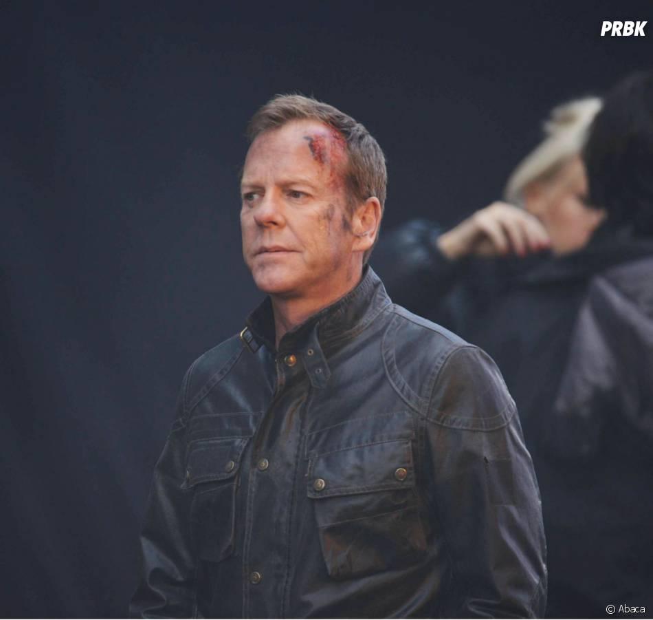 24 heures chrono saison 9 : Kiefer Sutherland en sang sur le tournage à Londres, le 22 janvier 2014