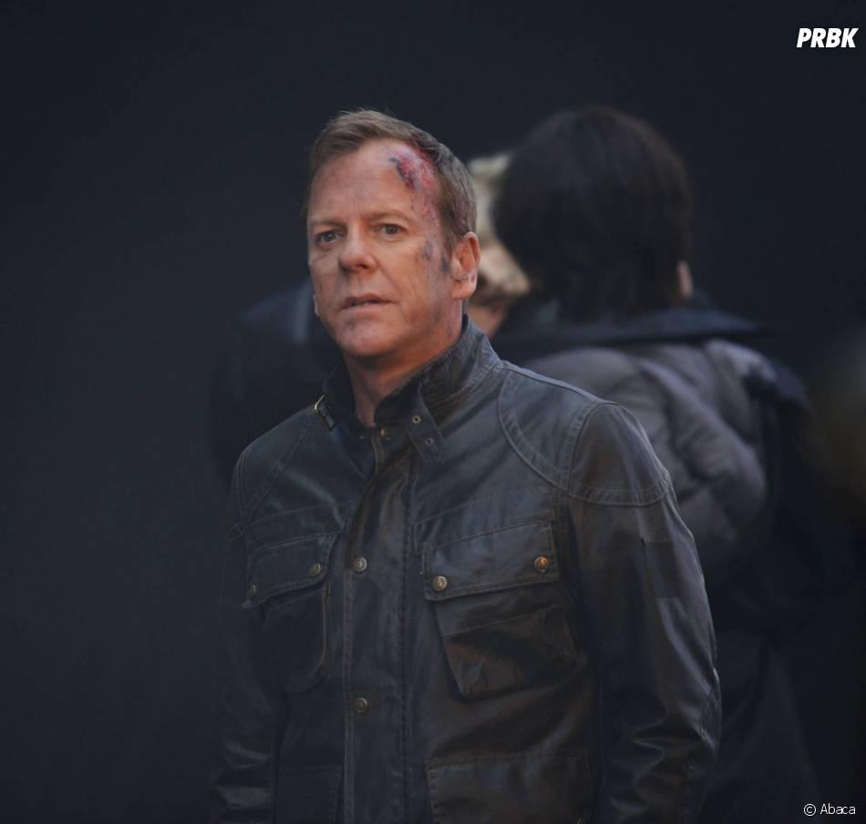 24 heures chrono saison 9 : Kiefer Sutherland blessé sur le tournage à Londres, le 22 janvier 2014