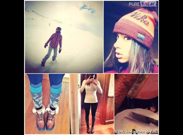 Shy'm : ses vacances à Val Thorens, le 28 janvier 2014 sur Instagram
