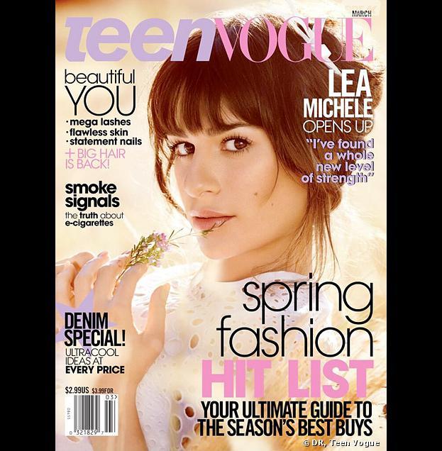 Lea Michele en Une du magazine Teen Vogue, mars 2014