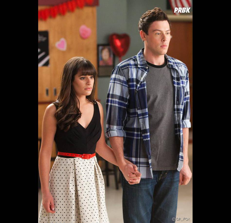 Cory Monteith et Lea Michele en couple dans la série Glee