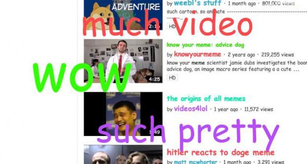 Youtube se met aux memes