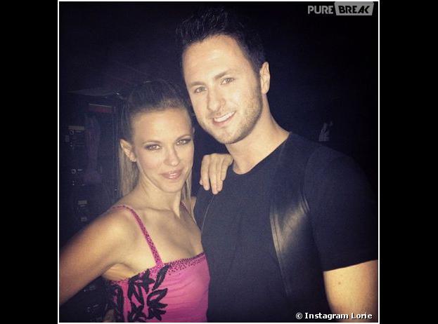 Lorie et son danseur Christian Millette pendant la tournée Danse avec les Stars