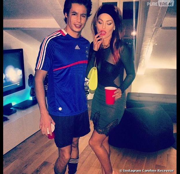 Caroline Receveur déguisée en Zahia sur Instagram