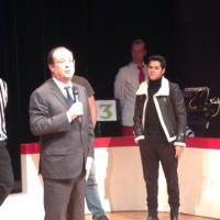 Jamel Debbouze : François Hollande improvise avec l'humoriste à Trappes