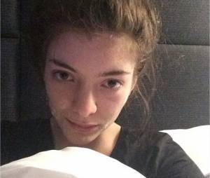 Lorde sans maquillage sur Instagram