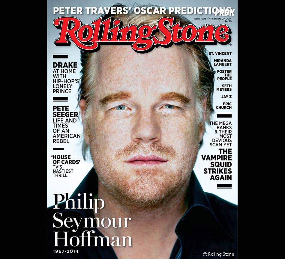 Philip Seymour Hoffman en Une du magazine Rolling Stone en février 2014