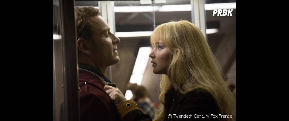 X-Men Days of Future Past : Jennifer Lawrence face à Michael Fassbender sur une photo