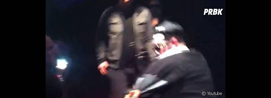 Seth Gueko giflé par un homme pendant son concert à Seyne-sur-Mer, le 14 février 2014