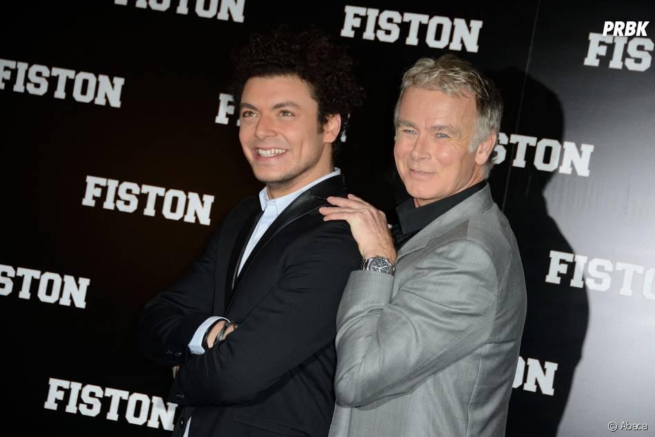 Kev Adams et Franck Dubosc ensemble pour l'avant-première du film Fiston à Paris, le 10 février 2014