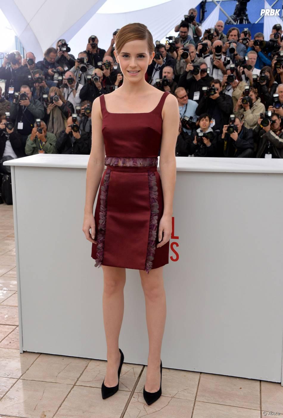 Emma Watson dans une création Christopher Kane au Festival de Cannes