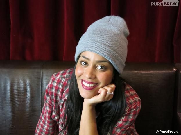 Amel Bent interviewée par PureBreak, le 12 février 2014 à Paris