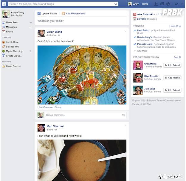 Facebook : le fil d'actualité adopte un nouveau look