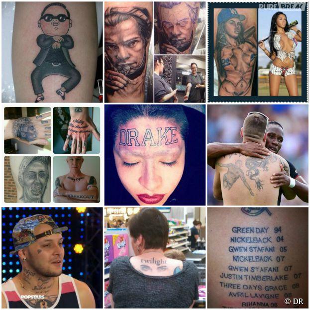 Drake, One Direction, Miley Cyrus, Nabilla... : les pires tatouages de fans