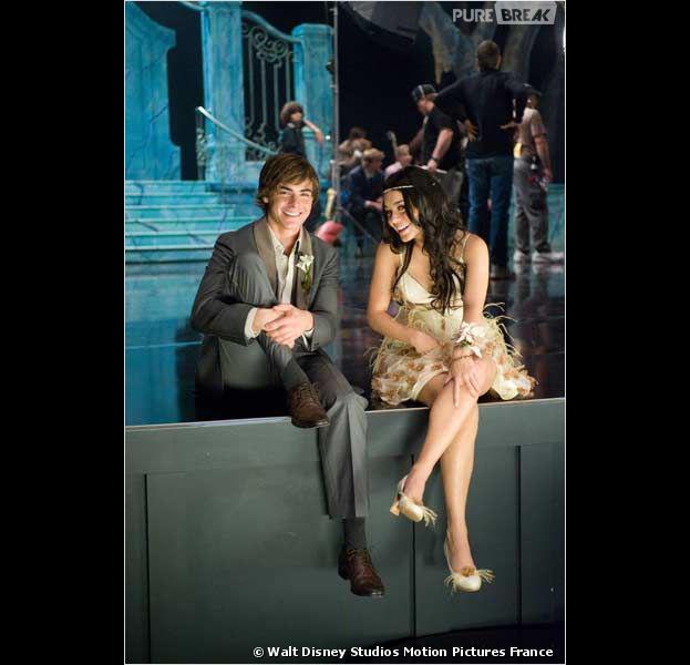 Zac Efron et Vanessa Hudgens dans High School Musical 3 en 2008