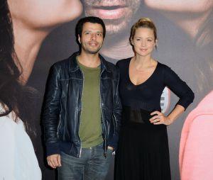 Virginie Efira et son compagnon Mabrouk el mechri à l'avant-première de Situation amoureuse : c'est compliqué, le 17 mars 2014 à Paris