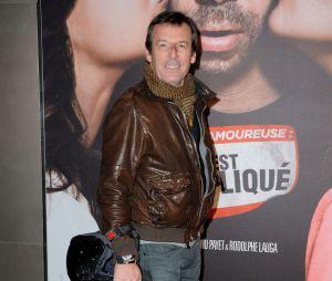 Jean-Muc Reichmann en mode motard pour l'avant-première de Situation amoureuse : c'est compliqué, le 17 mars 2014 à Paris
