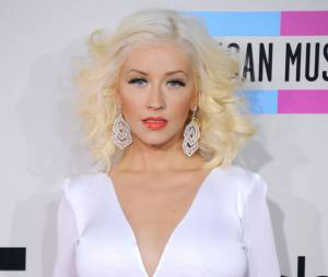 Christina Aguilera attend une petite fille