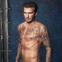 David Beckham : sexy et à moitié nu pour les maillots de bain H&M