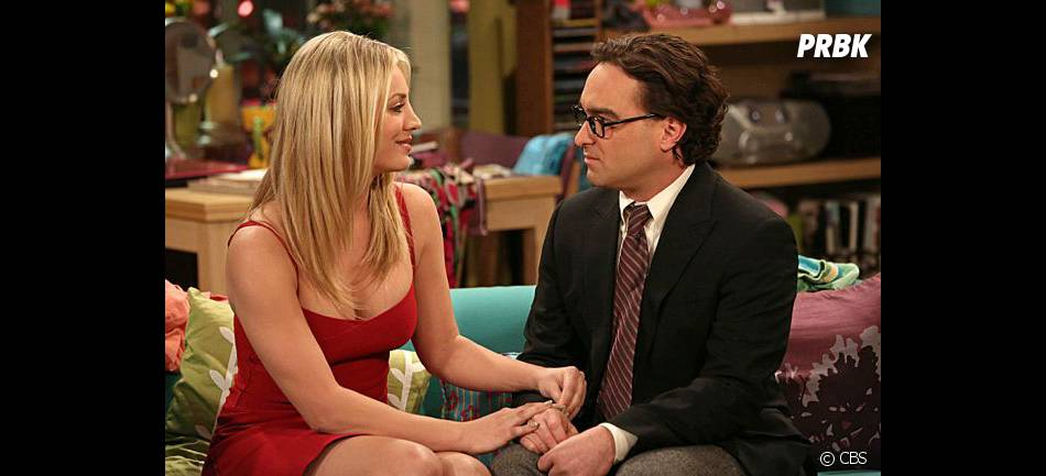 Kaley Cuoco et Johnnu Galecki dans The Big Bang Theory