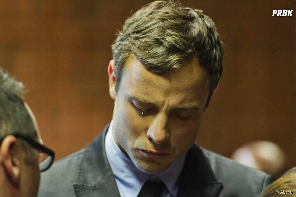 Oscar Pistorius : les larmes au yeux, le 19 août 2013 au tribunal de Pretoria