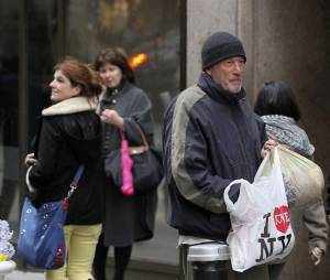 Richard Gere sur le tournage du film Time out of Mind à New York, le 22 avril 2014