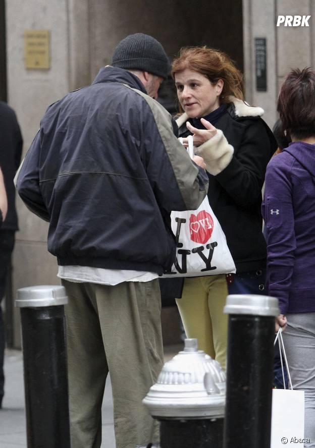 Une touriste française offre une pizza à Richard Gere déguisé en SDF, à New York, le 22 avril 2014
