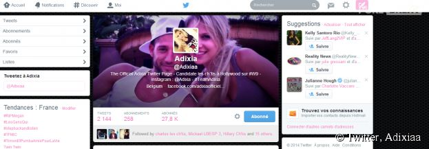 Les Ch'tis VS Les Marseillais : Adixia a mis une photo d'elle et Paga en bannière