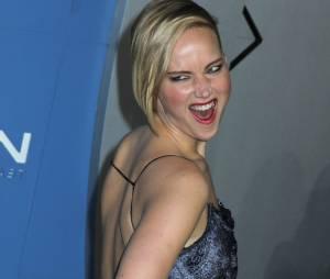 X-Men Days of Future Past : Jennifer Lawrence s'amuse devant les photographes, le samedi 10 mai 2014 à New York