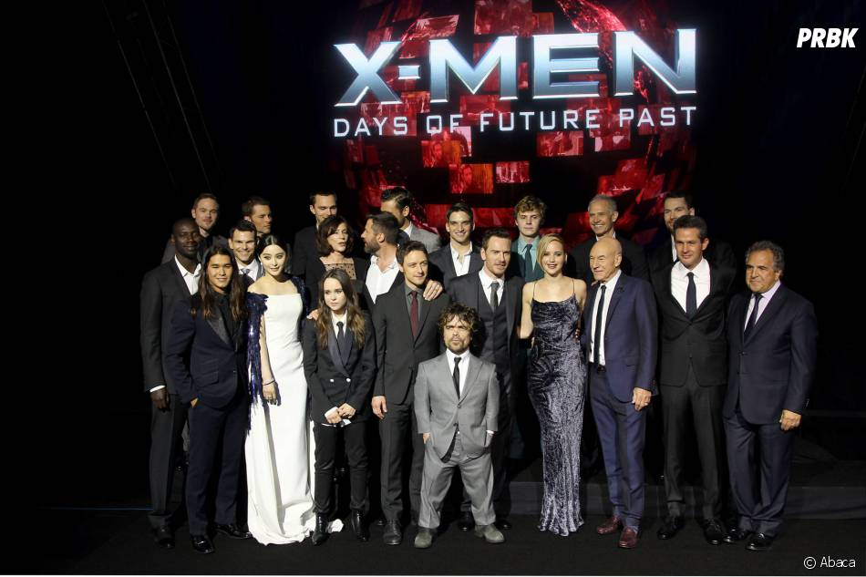 X-Men Days of Future Past : photo de groupe avec Omar Sy, le samedi 10 mai 2014 à New York