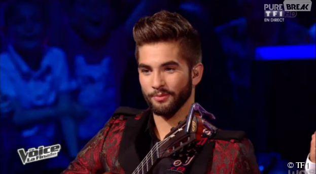 The Voice 2014 : Kendji sur le plateau de la finale, le samedi 10 mai 2014
