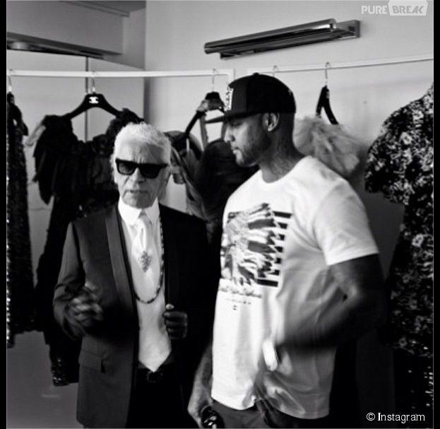 Booba et Karl Lagerfeld : rencontre au Festival de Cannes 2014 pour préparer une collaboration entre Ünkut et Chanel ?