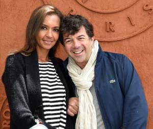 Stéphane Plaza et Karine Le Marchand à Roland-Garros, le 29 mai 2014