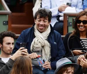 Stéphane Plaza et Karine Le Marchand s'amusent à Roland-Garros, le 29 mai 2014
