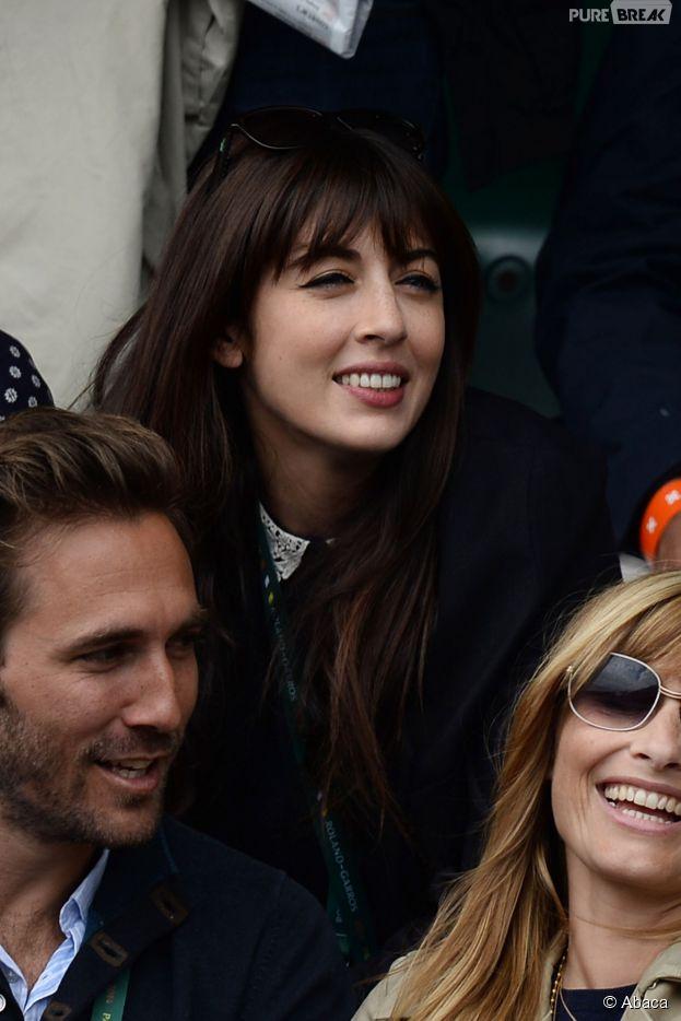 Nolween Leroy souriante à Roland-Garros, le 29 mai 2014