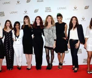 Géraldine Nakache et l'équipe de Sous les jupes des filles, le 2 juin 2014 à Paris
