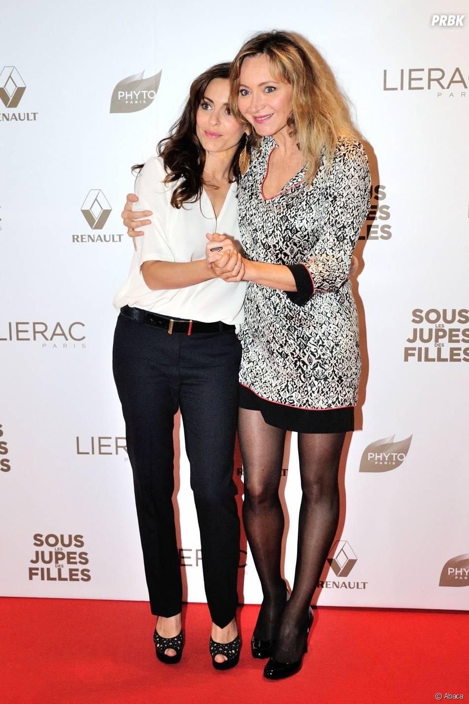 Audrey Dana et Julie Ferrier présentent Sous les jupes des filles, le 2 juin 2014 à Paris