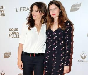 Laetitia Casta et Audrey Dana sur le tapis rouge de Sous les jupes des filles, le 2 juin 2014 à Paris