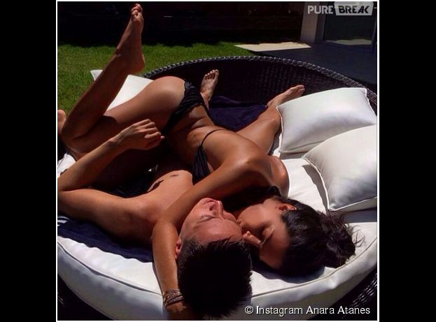 Samir Nasri et Anara Atanes : pose coquine sur Instagram, le 4 juin 2014
