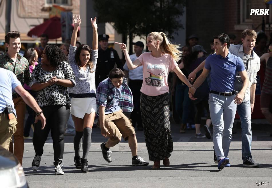 Glee saison 5 : Lea Michele, Darren Criss et les autres dans le final