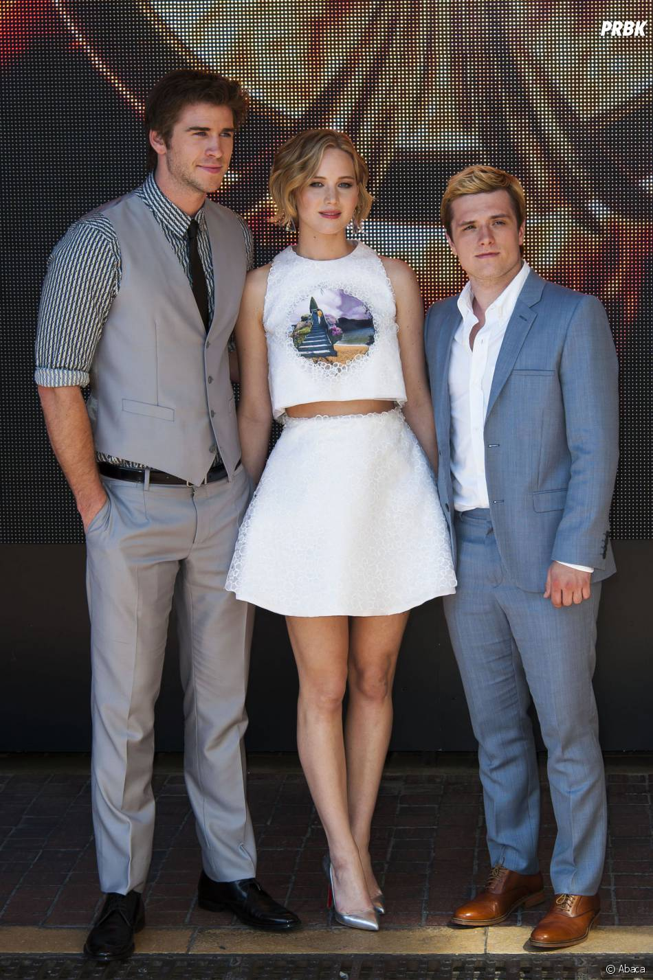 Liam Hemsworth, Jennifer Lawrence et Josh Hutcherson au photocall d'Hunger Games 3 au Festival de Cannes, le 17 mai 2014