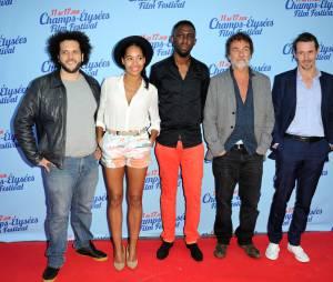 Thomas Ngijol et toute l'équipe du film Fast Life pendant le Festival du film des Champs Elysées, le 11 juin 2014 à Paris