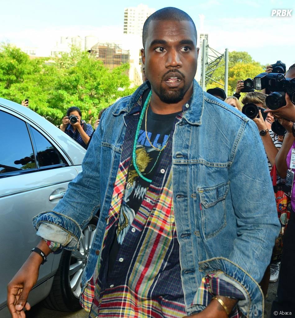 Kanye West au défilé Alexander Wang Printemps-Eté 2014 à la Fashion Week de New-York, le 7 septembre 2013