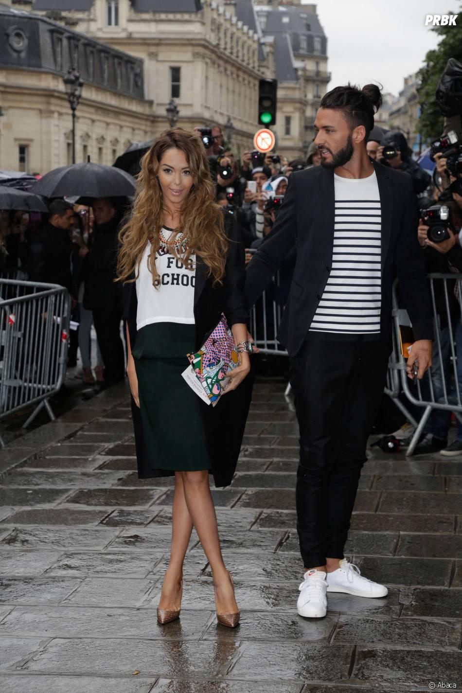 Nabilla Benattia et Thomas Vergara ont assisté au défilé Haute Couture automne-hiver 2014/2015 de Jean-Paul Gaultier, le 9 juillet 2014